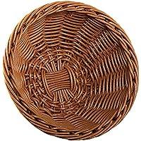 山下工芸(Yamasita craft) 樹脂手編バスケット 丸 中 茶 59164000
