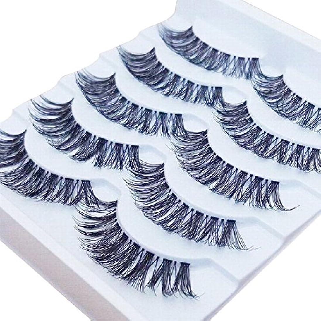 ディーラースタイル麻酔薬Feteso 5ペア つけまつげ 上まつげ Eyelashes アイラッシュ ビューティー まつげエクステ レディース 化粧ツール アイメイクアップ 人気 ナチュラル 飾り 柔らかい 装着簡単 綺麗 濃密 再利用可能