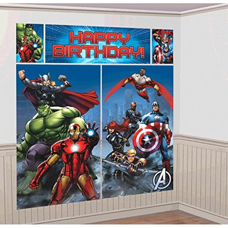 Avengers Assemble Wall Decorating Kit ウォールデコレーションキットを組み立てAvangersですべてアベンジャーズを組み立てる?ハロウィン?クリスマス?