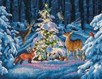 "Woodland Glow Counted Cross Stitch Kit-14""X11"" 14 Count (並行輸入品)"