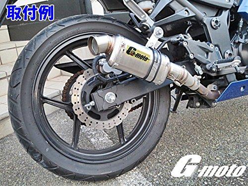 G-moto NINJA250R ピークパワーシリーズ エキパイ 変換 アダプター 付き スリップオン サイレンサー デルタマフラー 50mm ニンジャ250R EX250K 専用