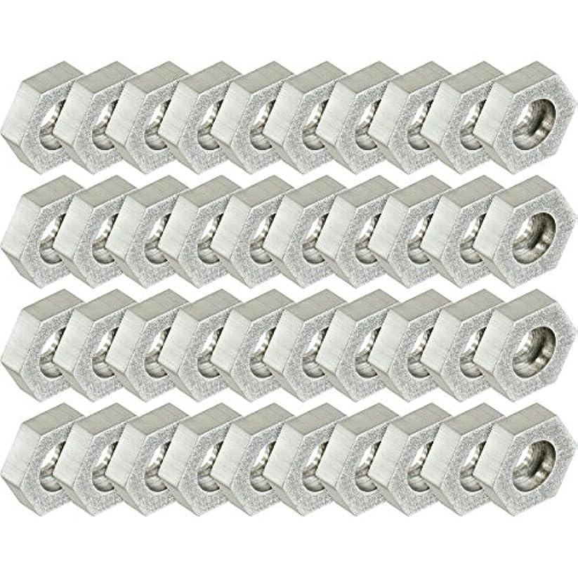 アルファベット機械的にリフレッシュKorkersアルミHex Discs – 40パック