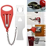 Universal Portable Door Lock Hardware Security Safety Travel Hotel Hostel Home Add a Lock Jammer Inwards for Privacy or to Ke