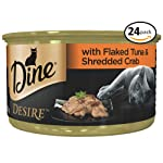 DINE Desire Flaked Tuna and Shredded Crab Wet Cat Food 85g Can, 24 Pack