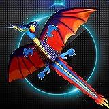 Cicitop 3D ドラゴンカイト 大人用 カイト キッズ 凧 アウトドア フライングカイト 楽しいスポーツ 凧 55インチ