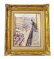 世界の名画 ムンク  Rue Lafayette ジクレーキャンバス複製画F3号豪華額装品