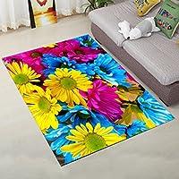 GJM Shop ノンスリップ長方形のカーペットのリビングルームのソファのコーヒーテーブルの敷物ベッドサイドのベッドルームマット (色 : 1, サイズ さいず : 140 * 200cm)