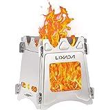 Lixada ウッドストーブ ピクニック バーベキューコンロ 焚火台 ファイアスタンド 折りたたみ 薪 ウッドストーブ…