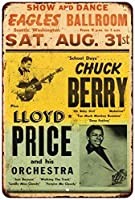 1950のチャックベリーコンサートポスターヴィンテージReproduction Metal Sign 8x 128123379