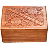 S.B.ARTS Wooden Urn Box for Human Ashes, Cremation Funeral Urns for Ashes, Pet Memorial Urns, Decorative Urn, Cat Infant Adul