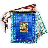 Tibetan Prayer Flags Outdoor Buddhist Meditation Flag 20pcs Satin Wind Horse Lungta Prayer Flags11x14 inches