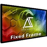 Akia Screens 120 INCH Projector Screen 16:9 Fixed Frame Projector Screen 8K / 4K Ultra HD 3D Ready Movie Projector Screen HD