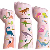DmHirmg Dinosaur Temporary Tattoos for Kids Boys Girls,Kids Dinosaur Tattoos Sets, Waterproof Fake Tattoo Stickers, Kids Birt