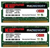 Komputerbay MACMEMORY 8GB (2x 4GB) DDR3 PC3-12800 1600MHz SODIMM 204-Pin アップルコンピュータのためのノートパソコンのメモリ