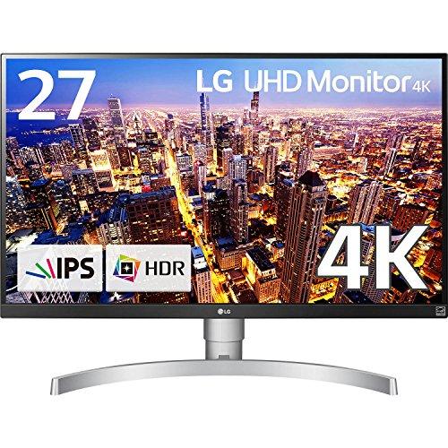 LG モニター ディスプレイ 27UK650-W 27インチ/4K/HDR対応/IPS非光沢/HDMI×2、DisplayPort/FreeSync、高さ調節、ピボット対応