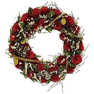 彩か SAIKA リース M インテリア用玄関飾り レッド 赤 CGX-247Mr Red Floral Wreath M