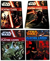 Star Wars Playing Cards Bundle of (4) Limited Edition Sets The Story of Darth Vader, Heroes, Kylo Ren & Resistance vs First Order