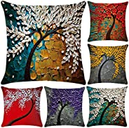Polyester Throw Pillow Case Cushion Cover Home Sofa Decorative (Cover Only,No Insert)(18x18 inch/ 45x45cm,6 Pa