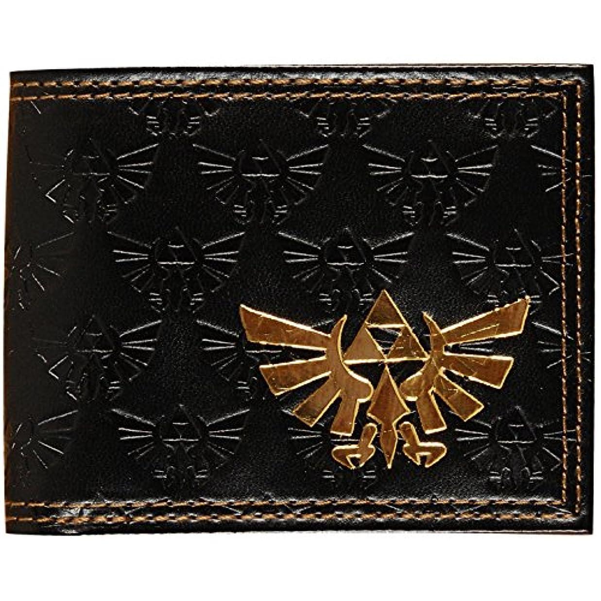 車光のアクロバットゼルダの伝説 ブラック ロゴ 折財布 アメリカ輸入品 任天堂