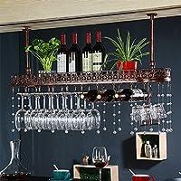 YD-Wine rack アイアンホワイト/ヤヘイ/ブロンズヨーロッパのクリエイティブハンギングガラスホルダーサイズ:60/80/100/X25X32cm # (色 : ブロンズ, サイズ さいず : 80 * 25 * 30cm)