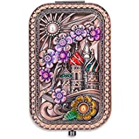 (Rose Golden) - Ivenf Rose Golden Square Vintage Compact Purse Mirror, Gift for Wife