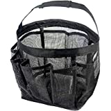 Quick Dry Hanging Shower Caddy with 8 Mesh Pockets Portable Bath Toiletry Cosmetics Shampoo Soap Organizer Shower Tote for Co