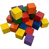 (ADOSSY) 積み木 知育 木製 立方体 小さなキューブ 100個 (100個 カラフル)