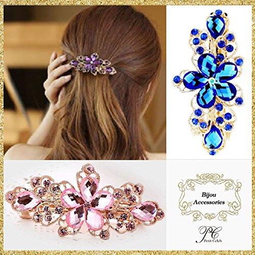 [Petit Celeb(プチセレブ) 髪飾り フラワー 花びら ヘッドアクセ ラインストーン ホワイト 4