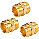 """ZKZX Garden Hose Double Male End Connect Adapter Double Male Quick Connector Thread Size 3/4"""" x 3/4"""" Pipe,Connect Female to F"""