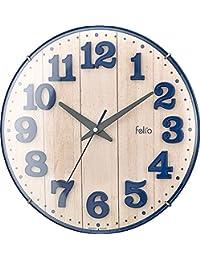 Felio 置き時計・掛け時計 ネイビーブルー (約) 高さ30.8×幅.30.8×奥行き5.7cm