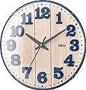 Felio 置き時計 掛け時計 ネイビーブルー (約) 高さ30.8×幅.30.8×奥行き5.7cm