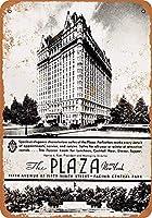 ブリキ看板1936ザプラザホテルニューヨークコレクティブルウォールアート