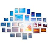 30 PCS Photo Frame Wall Set Collage Picture Frames Hanging Home Decor Gift White