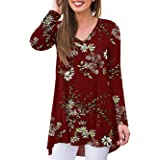 iChunhua Womens Lace Short Sleeve Cold Shoulder Swing Tunic Tops