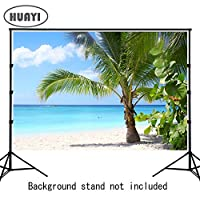 HUAYI 220x150cm 撮影用 デジタル背景 撮影 バックスクリーン 写真背景 撮影用背景 写真撮影 スタジオ撮影 七五三などお子様向け 夏の海  Xt-6591