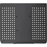 WALI Laptop Holder Tray for 1 Notebook up to 17 inch, Mount Compatible with VESA 100 mm, 22 lbs Capacity with Vented Cooling