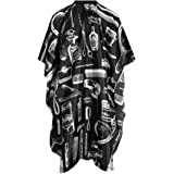 UTSLIVE Black Waterproof Hair Cutting Cape Hairdressing Barbers Cape Gown
