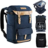 K&F Concept Multi-Functional Camera Backpack 600D Polyester Waterproof Photography Equipment Travel Bag for Tripod DSLR Camer