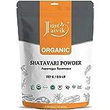 Just Jaivik 100% Organic Shatavari Powder, Usda Organic, 1/2 Pound / 227G, Asparagus Racemosus, Rejuvenative For Vata And Pit