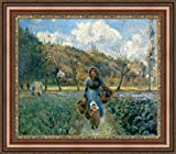 ( v01–01–02) Camille _ pissarro _ in _ the _ Vegetable _ Garden _フレーム_キャンバス_ Giclee _プリント_ w25.5_ X _ h22 >[Small] #06-Brown/Gold V01-01F-MD393-03