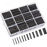 熱収縮チューブ 560ピースセット 収縮チューブ 絶縁 防水 12サイズ 1mm~13mm 収縮率2:1 高難燃性 収納ケース付き