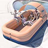 BAKAM Auto Blow Up Family Full-Sized Pools, Inflatable Swimming Pool for Kids Adults, Pump Up Kiddie Pool for Backyard Garden