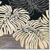 ユーパワー 植物・花 ブラック W60xH60xD4cm