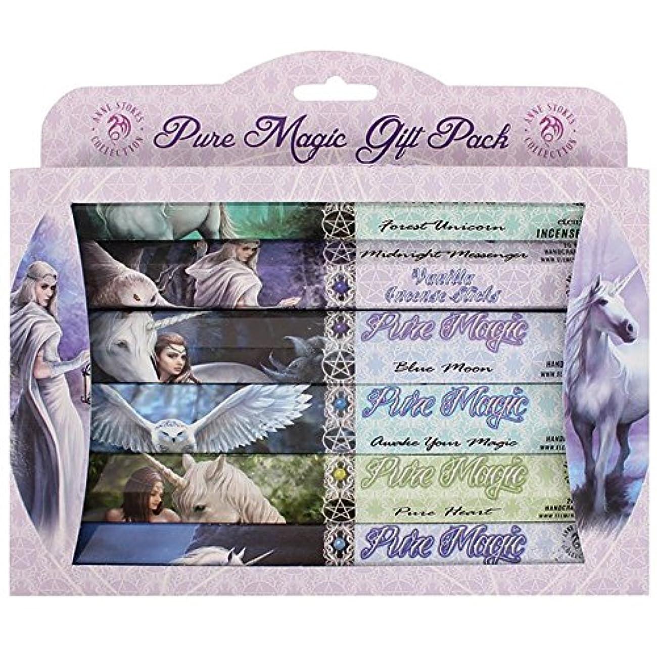 満足できる療法ビンAnne Stokes Pure Magic Incense Gift Pack 6 x 20 Sticks 6 Fragrances