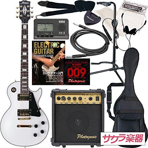 Maison メイソン エレキギター レスポールタイプ サクラ楽器オリジナル LP-38/WH 初心者入門13点セット