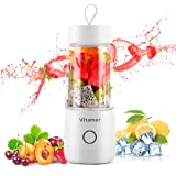 Portable Blender Vitamer Personal Fruit Mixer Four Blades with USB Rechargeable for for Smoothies, Milkshake, Fruit Vegetable