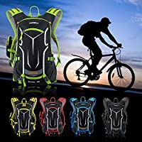 Honeytecs 18L Water-Resistant Breathable Cycling Bicycle Bike Shoulder Backpack Ultralight Outdoor Sports Riding Travel Mountaineering Hydration Water Bag with Rain Cover