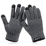 4UMOR 手袋 グローブ スマホ対応 タッチパネル 防寒 保温 冬用 メンズ&レディース プレゼント M