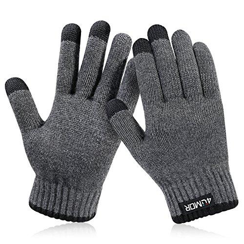 4UMOR 手袋 グローブ スマホ対応 タッチパネル 防寒 保温 冬用 メンズ&レディース クリスマスプレゼント M