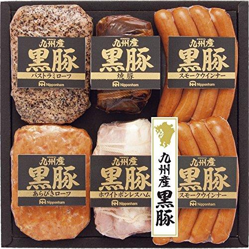 日本ハム 九州産黒豚ギフト 【すもーくういんなー 詰め合わせ にほんはむ 日本製 国産 れいぞう ぼんれすはむ ぱすとらみろーふ きゅうしゅうさんくろぶた やきぶた 5000】